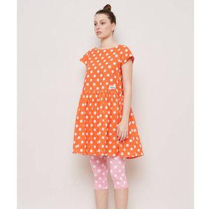 GORMAN x Pantone Orange Polka Dot Dress US 6 AU 10